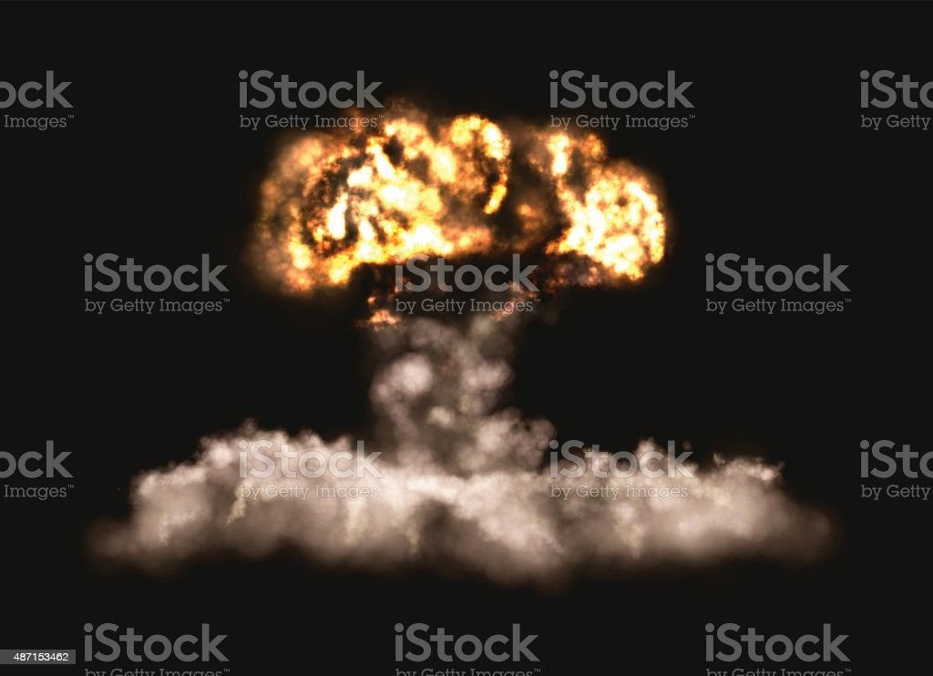Big Bomb Explosion vector art illustration