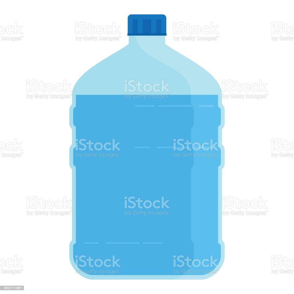 big bottle for water vector art illustration