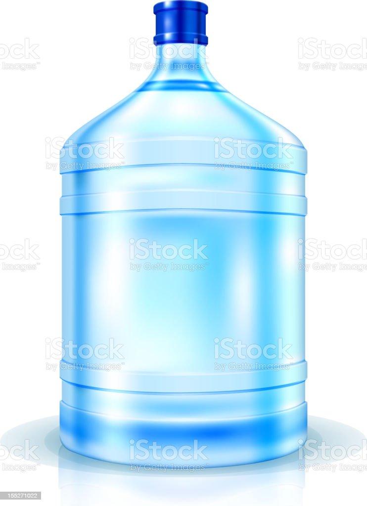 Big Bottle of Water vector art illustration