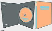 istock Big box for game cinema cd dvd 1299572878
