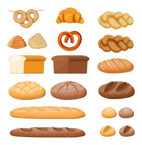 bildbanksillustrationer, clip art samt tecknat material och ikoner med stora bröd ikoner som. - söt bulle