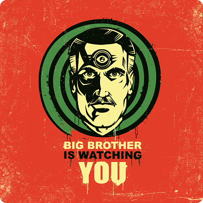 Big Brother is watching you illustration