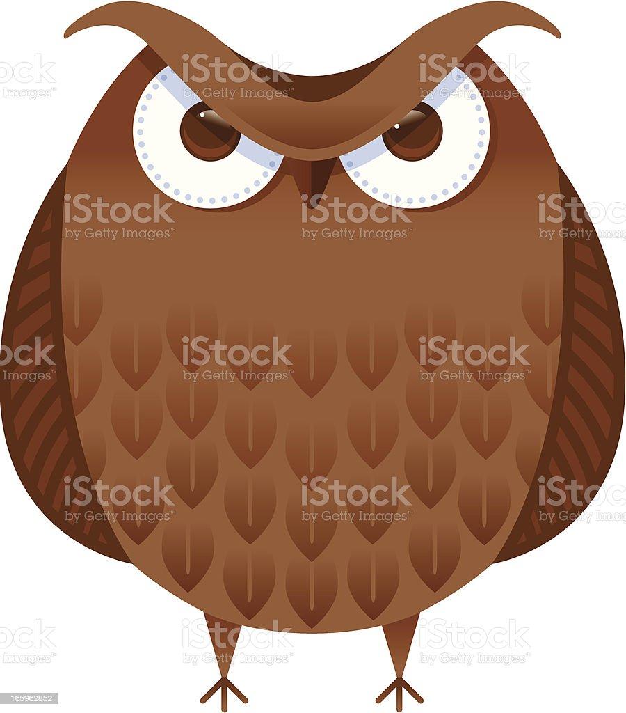 Big brown owl royalty-free big brown owl stock vector art & more images of animal