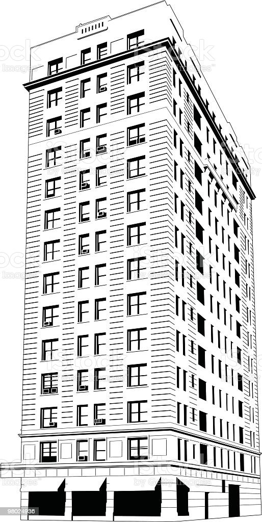Big building royalty-free big building stock vector art & more images of apartment