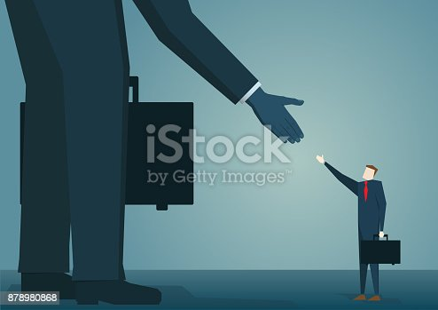 istock Big business and small business 878980868