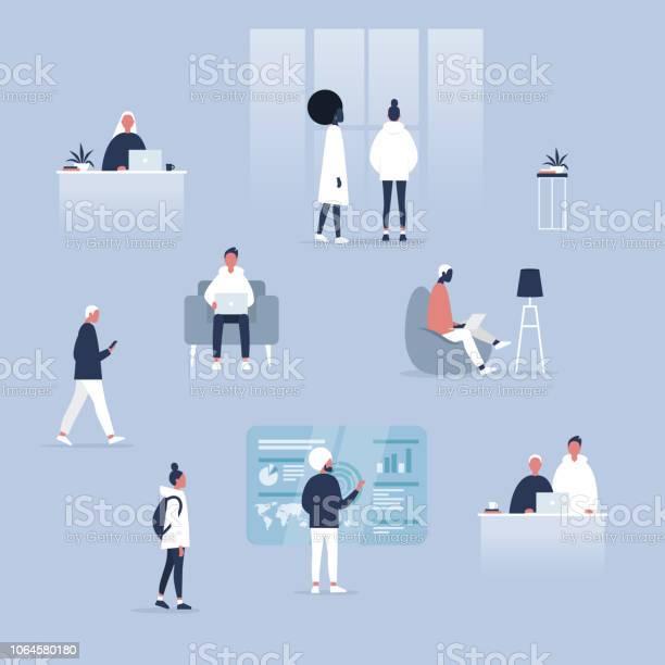 Big business set coworking space office life diversity collective vector id1064580180?b=1&k=6&m=1064580180&s=612x612&h=iaatpef39khfnf gbgwmealslobpmim3xcmzwv eifu=