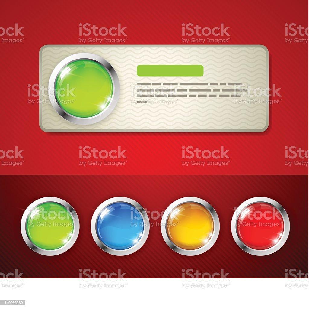 Big button banner royalty-free stock vector art