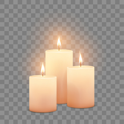 Big candles in vector