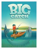 Big catch concept poster card