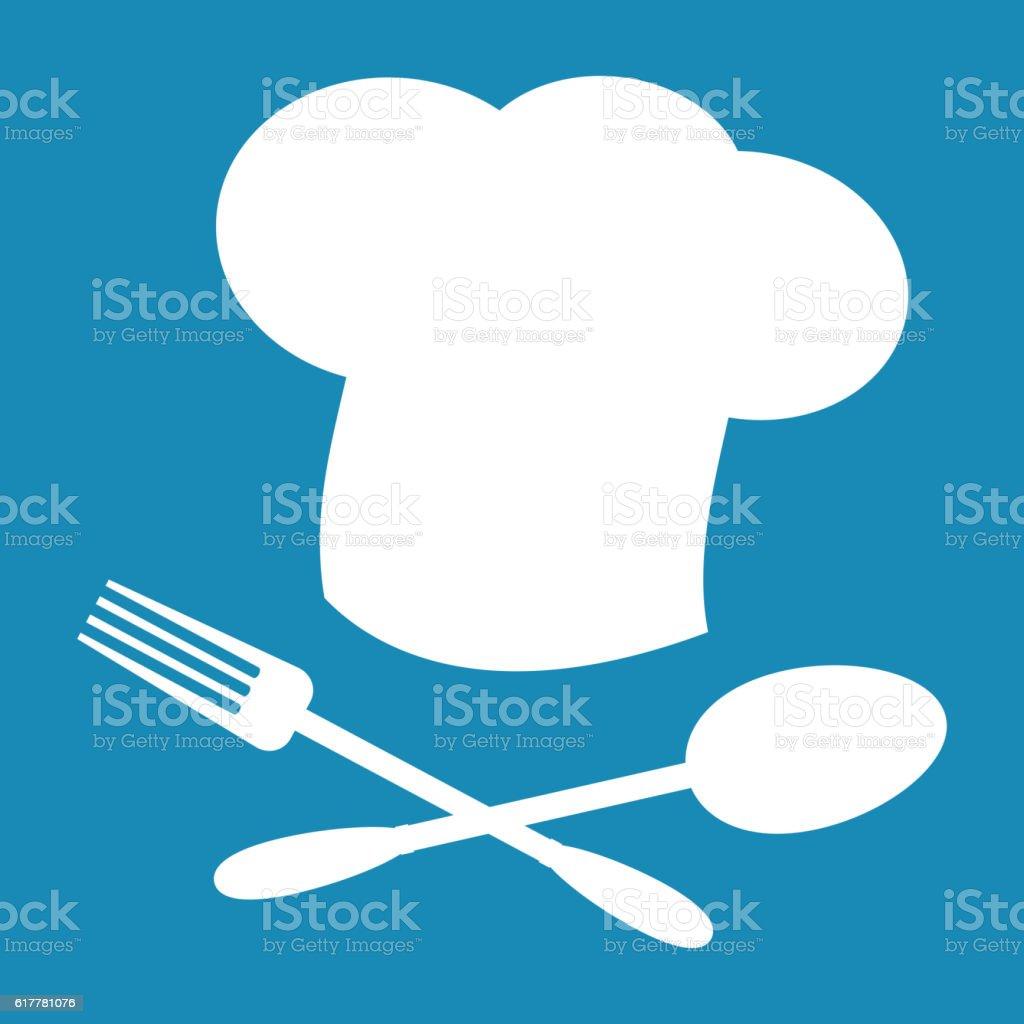 Big chef hat vector illustration.