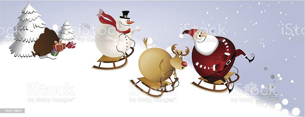 Big Christmas fun vector art illustration