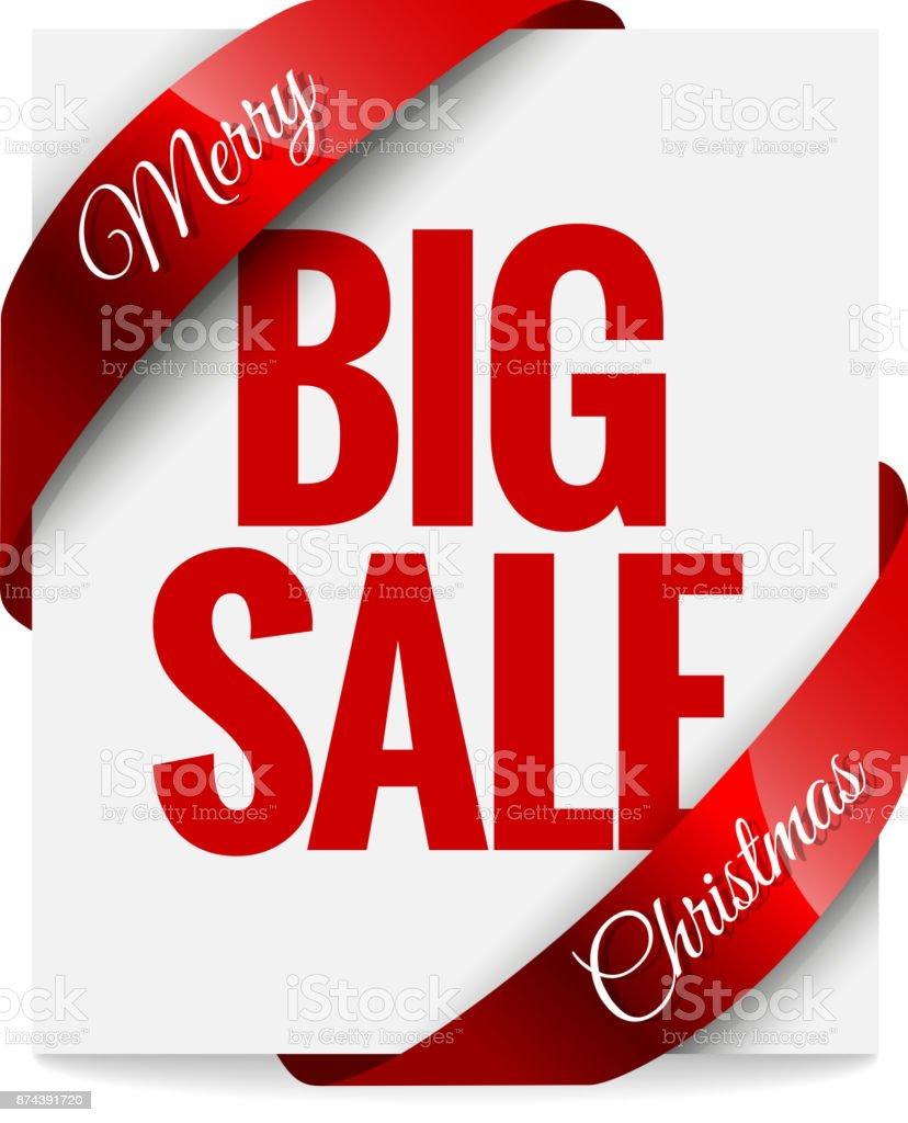 Großer Weihnachtsverkauf Label Stock Vektor Art und mehr Bilder von ...