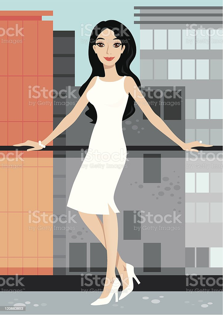 big city loft royalty-free stock vector art