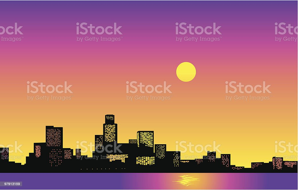Big City Skyline. Vector Illustration royalty-free big city skyline vector illustration stock vector art & more images of architecture