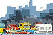 Easy editable vector... Each vehicle can be used separately... Everyone can be moved...