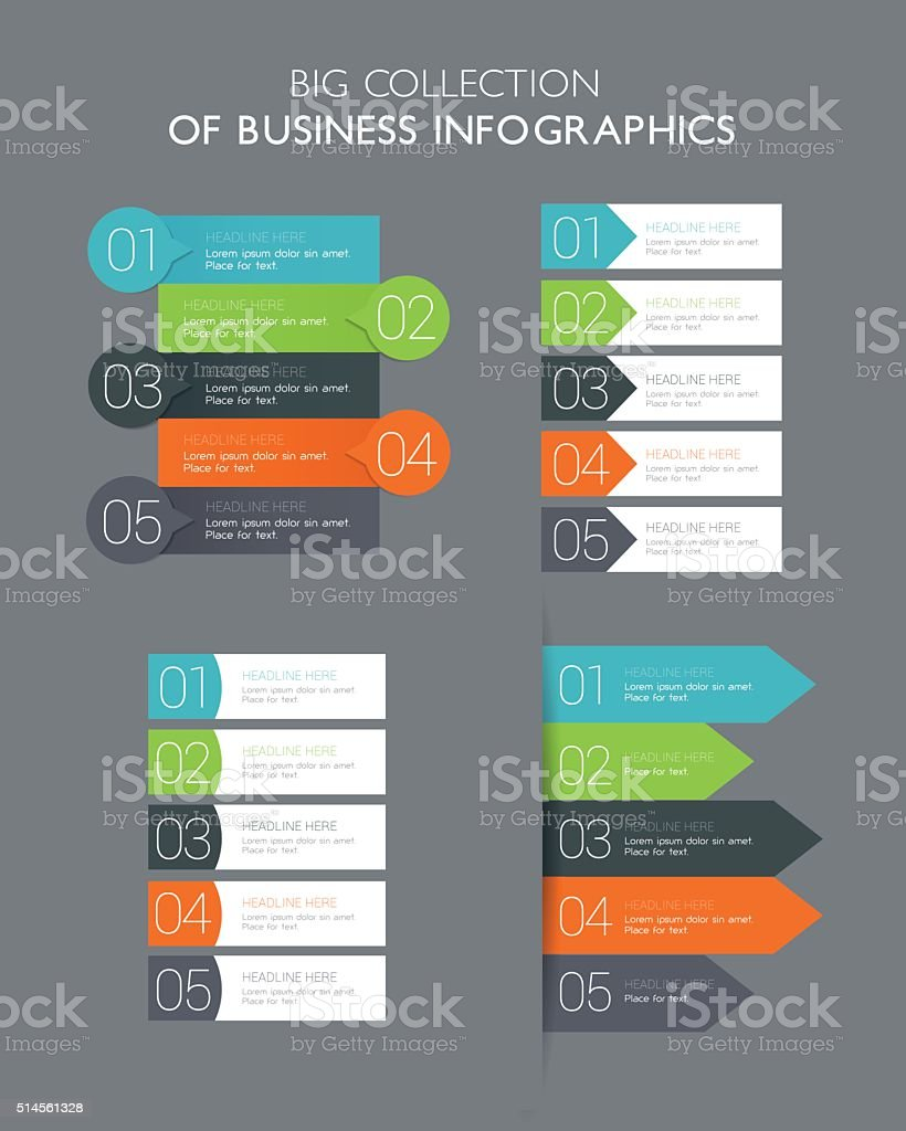 Big Collection - Infographics Banners vector art illustration