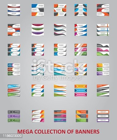 Big collection of 90 banners. Modern layout template for your design web for your business