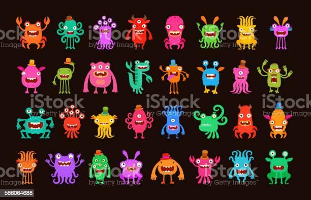 Big collection of cartoon funny monsters vector illustration vector id586064688?b=1&k=6&m=586064688&s=612x612&h=hmlie3 awj3gbbvps pbmnhidpzimcilkdja2 zcxtm=