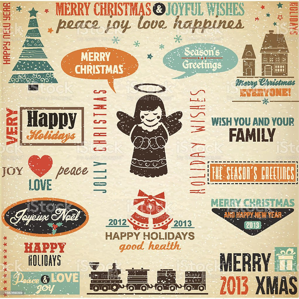 Big Collection of Christmas Design Elements royalty-free stock vector art