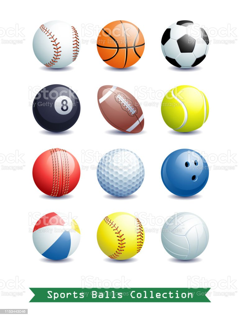 Big Collection of different Sports Balls for your creative works....