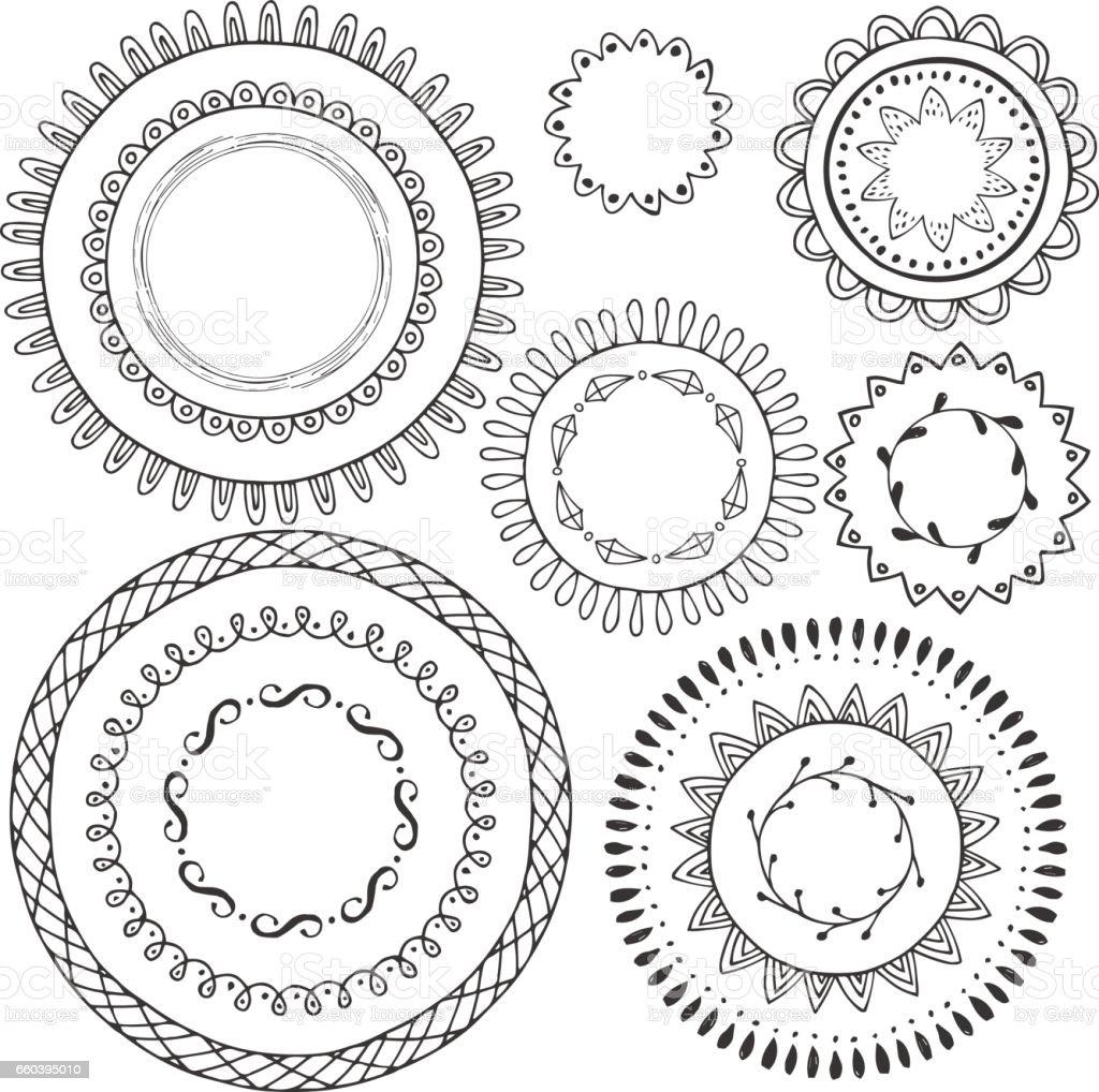 Big collection of hand drawn black circle frames round borders big collection of hand drawn black circle frames round borders scrapbook tags vector sciox Choice Image