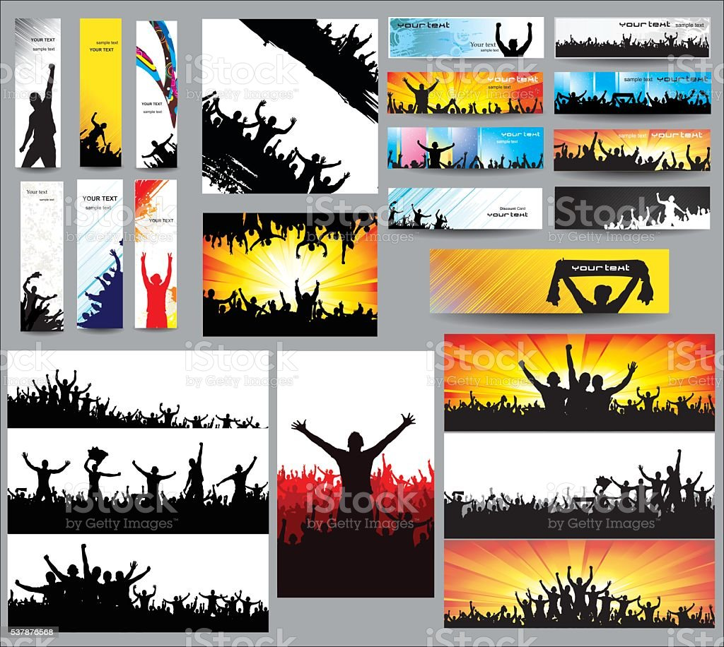 Big collection of silhouettes vector art illustration