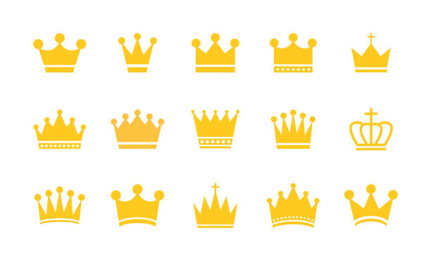 Big collection quolity crowns. Gold crown. Royal Crown icons collection set. Vintage crown. Vector illustration. Big collection quolity crowns. Gold crown. Royal Crown icons collection set. Vintage crown. Vector illustration crown headwear stock illustrations