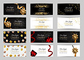 Big Collection Set of Luxury Members, Gift Card Template for your Business Vector Illustration EPS10
