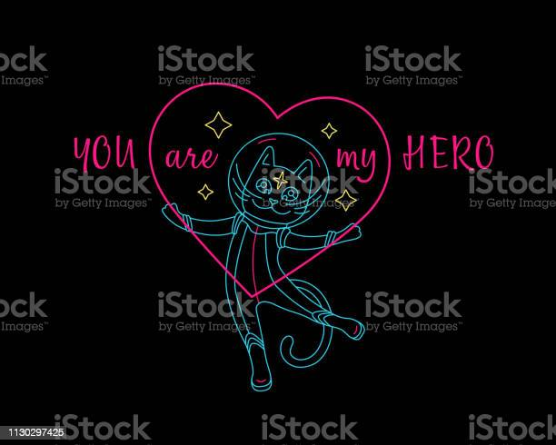 Big cosmic love cat with heart and quote you are my hero vector id1130297425?b=1&k=6&m=1130297425&s=612x612&h=q 1vvmsvzsti7e29f3zzodu0 xmrfhsk 5ko u8rnvw=
