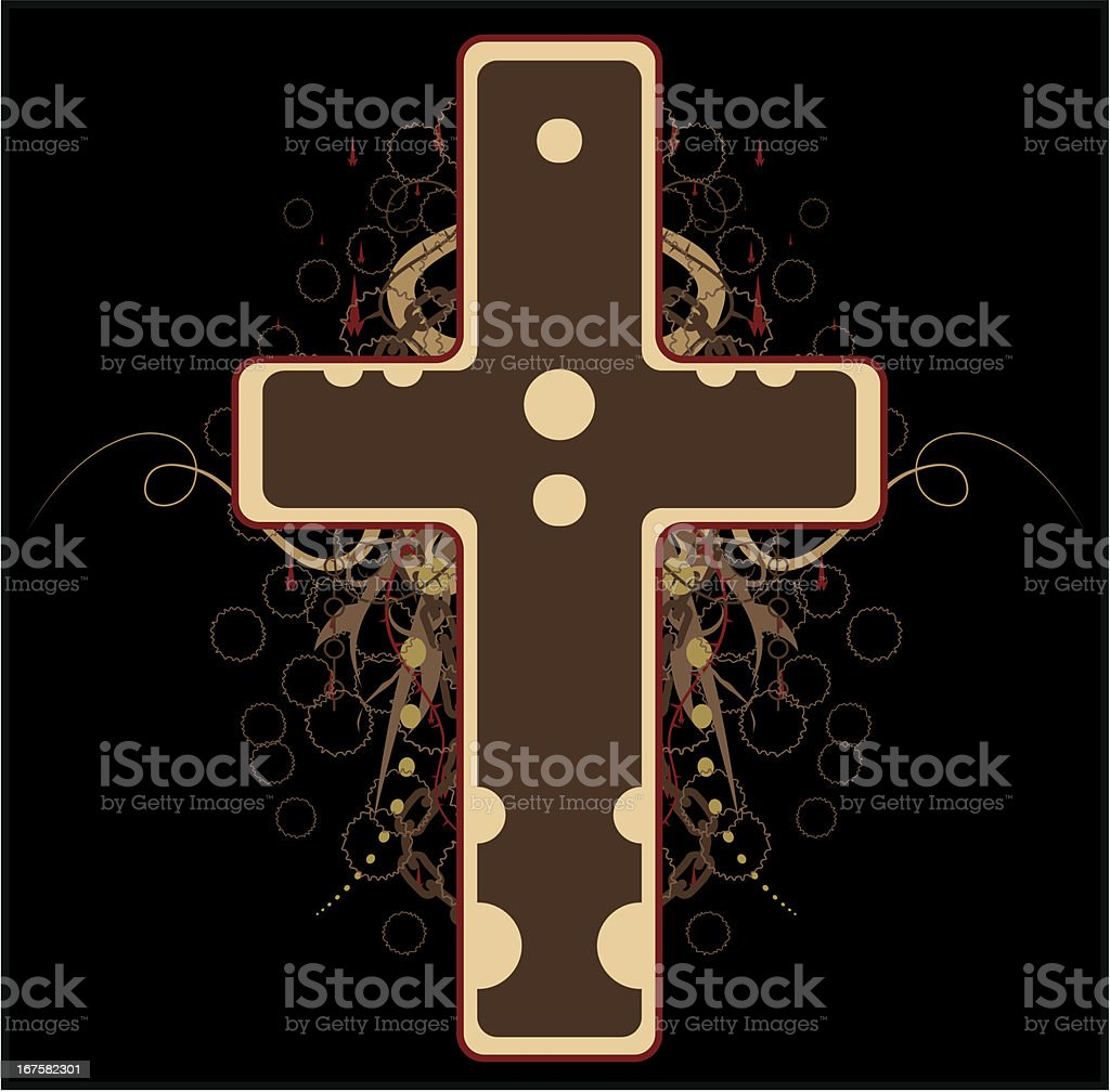 Big Cross, Colored royalty-free stock vector art