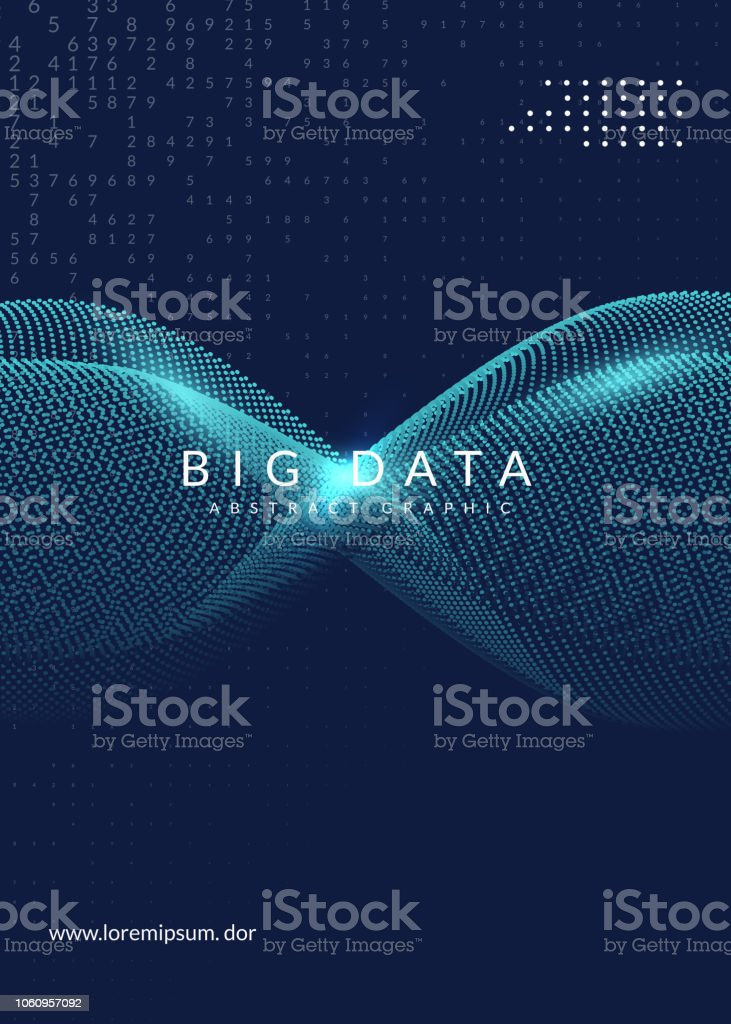 Big data background. Technology for visualization, artificial in
