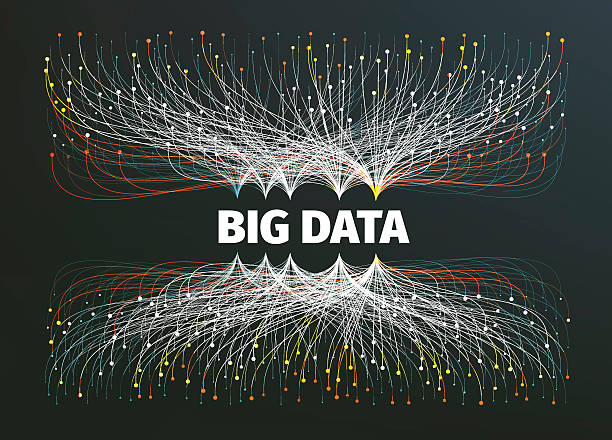 big data background vector illustration. information streams. future technology - big data stock-grafiken, -clipart, -cartoons und -symbole