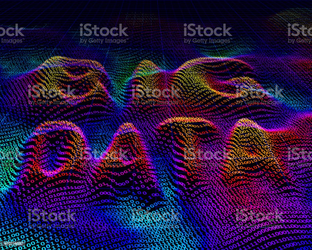 Big data. Binary code background royalty-free big data binary code background stock illustration - download image now