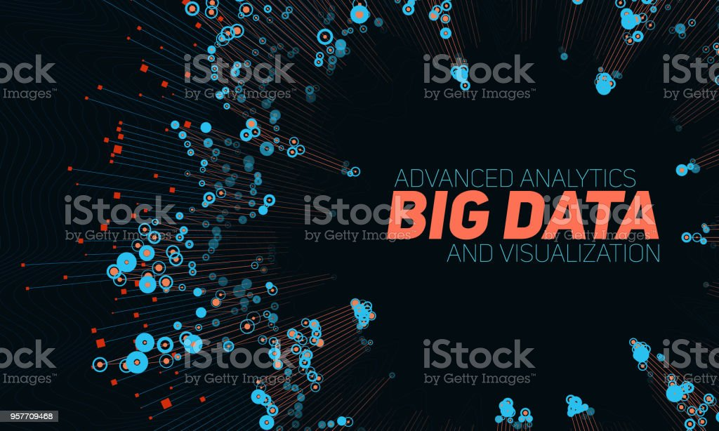 Big data circular visualization. Futuristic infographic. Information aesthetic design. Visual data complexity. Complex data threads graphic visualization. Social network representation. Abstract graph