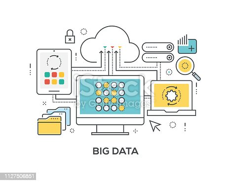 Big Data Concept with icons