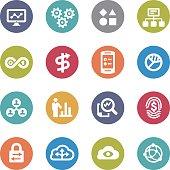 Big Data Icons - Circle Series