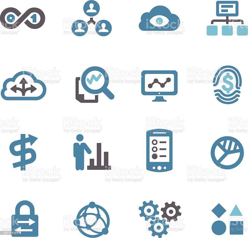 Big Data Icons Conc Series Stock Vector Art Amp More Images