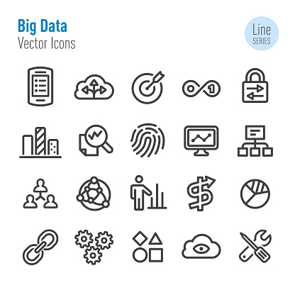 Big Data Icons - Vector Line Series