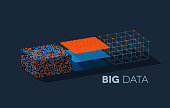 Big data illustration with structuring map reduce process