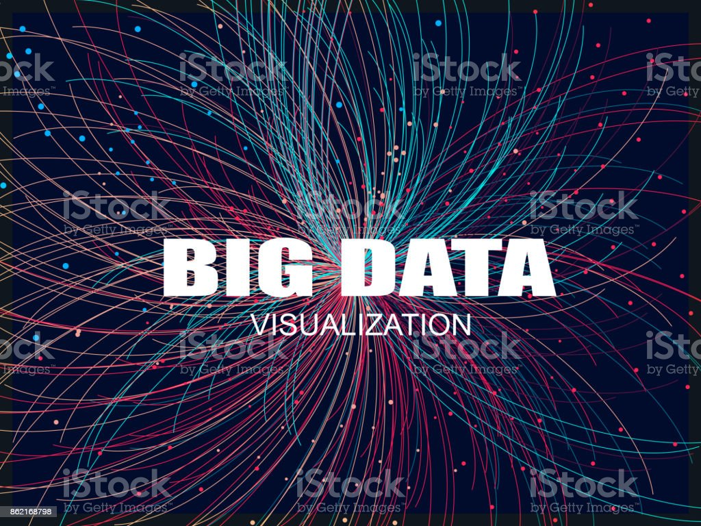 big data pattern background – artystyczna grafika wektorowa