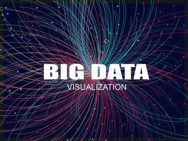 big data pattern background - illustrazione arte vettoriale