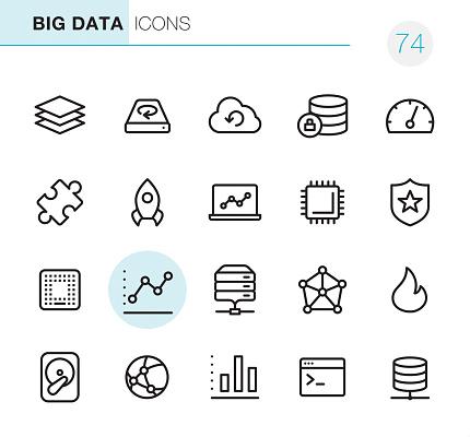 Big Data - Pixel Perfect icons