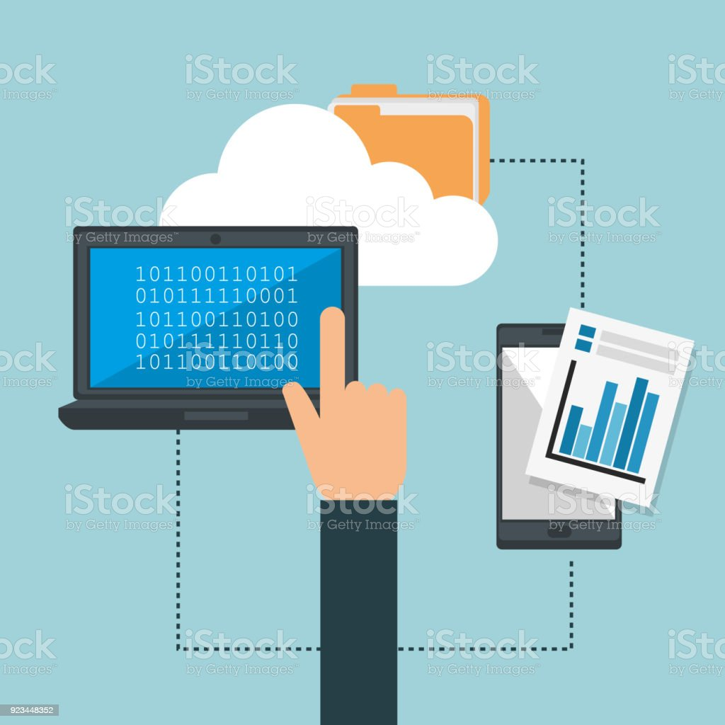 Big Data Set Icons Stock Vector Art & More Images of