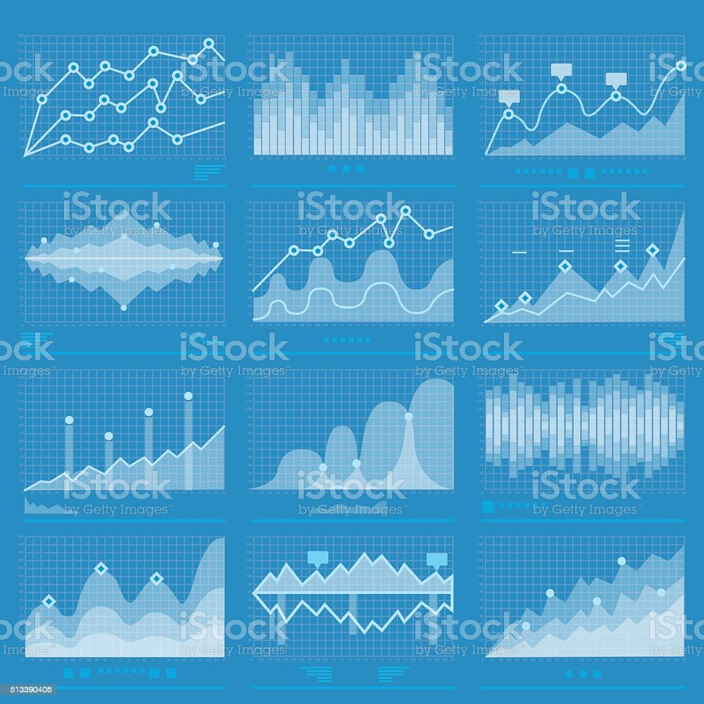 Big Data Statistics Background vector art illustration