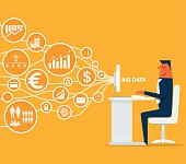 Businessman analytics business graph and seo on web