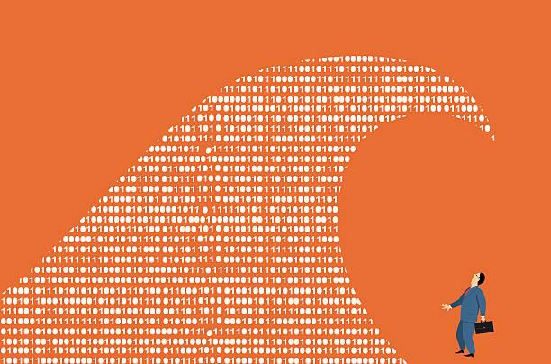 I Big data  - illustrazione arte vettoriale