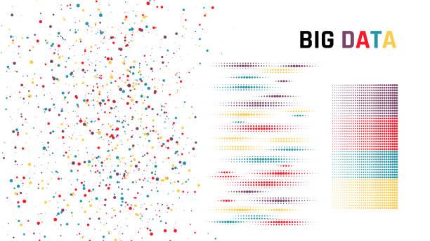 big-data. vektor - chaos stock-grafiken, -clipart, -cartoons und -symbole