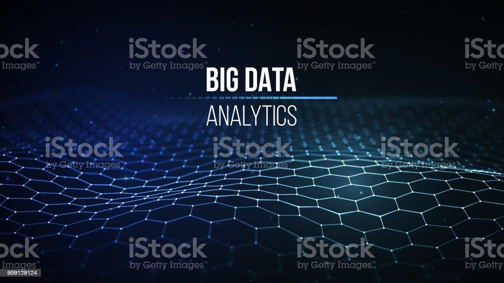 Big Datavisualisierung 3d Hintergrund Bigdataverbindung Hintergrund ...