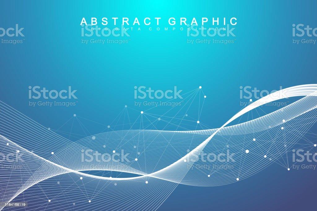 Big data visualization. Geometric abstract background visual...