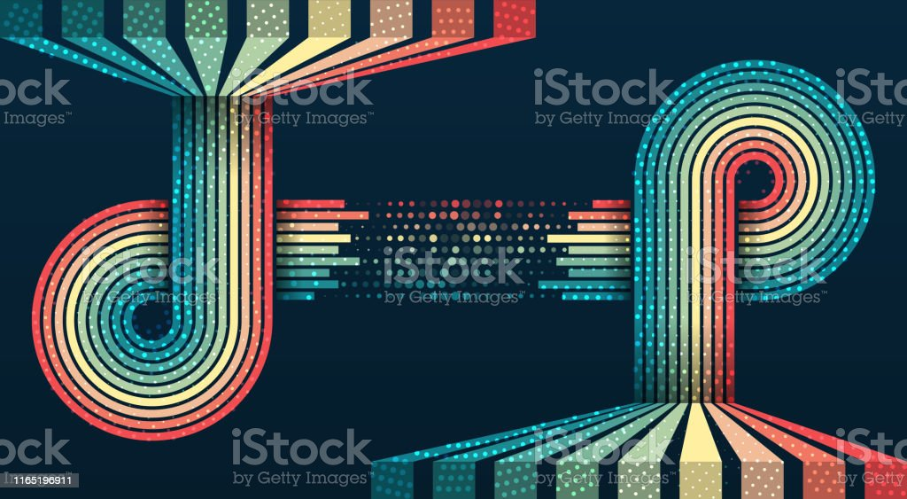 Big data visualization. Information analytics concept. Abstract...
